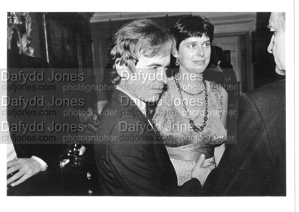 Mr. and Mrs. Martin Amis. ( First wife ) Wedding party, Holland Park. 1985 approx. © Copyright Photograph by Dafydd Jones 66 Stockwell Park Rd. London SW9 0DA Tel 020 7733 0108 www.dafjones.com