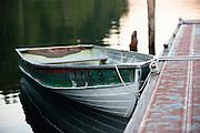 Boat at Lake Crescent. Olympic National Park, Washington.