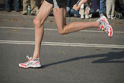 legs of a runner at the New York marathon