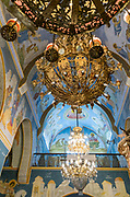 The Church of St. Gabriel, Nazareth, Israel. In The interior of the Greek Orthodox Church of the Annunciation,