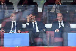 Felipe VI of Spain and FIFA President Gianni Infantino attend the 2018 FIFA World Cup 1/8 final match between Russia and Spain in Moscow, Russia on July 1st, 2018. Photo by Lionel Hahn/ABACAPRESS.COM