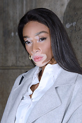 Winnie Harlow attending the H&M show as part of the Paris Fashion Week Womenswear Fall/Winter 2018/2019 in Paris, France on February 28, 2018. Photo by Aurore Marechal/ABACAPRESS.COM
