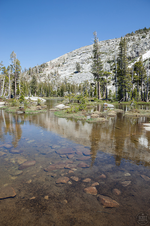 """""""Pond in Desolation Wilderness 1"""" - Photograph of an unnamed pond in the Tahoe Desolation Wilderness."""