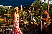 Hula dancer, Royal Lahaina Resort, Kaanapali, Maui, Hawaii