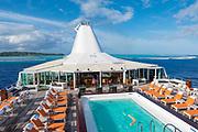 Paul Gauguin cruise ship, , Aitutaki, Cook Islands, South Pacific