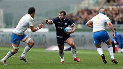 Scotland's Fraser Brown during the NatWest 6 Nations match at the Stadio Olimpico, Rome.