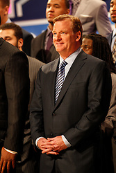 NFL Commissioner Roger Goodell during the first round of the NFL Draft on April 26th 2012 at Radio City Music Hall in New York, New York. (AP Photo/Brian Garfinkel)