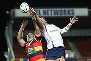 Chris Middleton and Liam Squire during their Round 5 ITM cup Rugby match, Waikato v Tasman, at Waikato Stadium, Hamilton, New Zealand, Friday 29 July 2011. Photo: Dion Mellow/photosport.co.nz