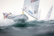 The 2015 Laser Women's Radial World Championship. Mussanah. Oman. November 18-26 November. Day 4 of racing - Marit Bouwmeester (NED)<br /> Image licensed to Lloyd Images
