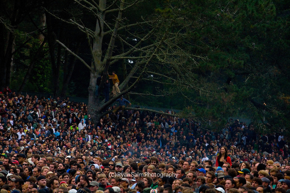 The crowd at Golden Gate Park during Hardly Strictly Bluegrass