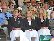 Henley on Thames. United Kingdom. Three Stewards, Left to right Quin BATTEN, Annmaria PHELPS right Sarah WINCKLESS,  2013 Henley Royal Regatta, Henley Reach, Sunday  07/07/2013.  [Mandatory Credit Peter Spurrier/ Intersport Images]