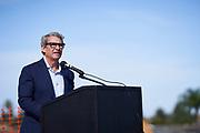 Robson Homes celebrates the groundbreaking of Finch Hollow housing development in Milpitas, California, on September 25, 2020. (Stan Olszewski/SOSKIphoto)
