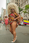 A performer in the 2011 Pride Parade on New York's Fifth Avenue.