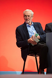 © Licensed to London News Pictures . 28/09/2015 . Brighton , UK . JEREMY CORBYN at the 2015 Labour Party Conference . Photo credit : Joel Goodman/LNP