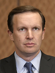 October 3, 2017 - Washington, District of Columbia, United States of America - United States Senator Chris Murphy (Democrat of Connecticut) waits for his opportunity to discuss gun violence in wake of Las Vegas shooting at a press conference in the US Capitol in Washington, DC on Tuesday, October 3, 2017.  He renewed his call for new laws to close the ''Gun Show Loophole'' that allows people to purchase guns if their background checks are incomplete..Credit: Ron Sachs / CNP (Credit Image: © Ron Sachs/CNP via ZUMA Wire)