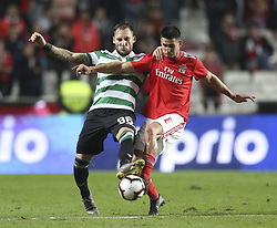 February 7, 2019 - Na - Lisbon, 06/02/2019 - SL Benfica received this evening the Sporting CP in the Stadium of Light, in game the account for the first leg of the Portuguese Cup 2018/19 semi final. Gudelj and Gabriel  (Credit Image: © Atlantico Press via ZUMA Wire)