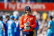 England T20 batsman Jason Roy is out during the International T20 match between England and India at Old Trafford, Manchester, England on 3 July 2018. Picture by Simon Davies.