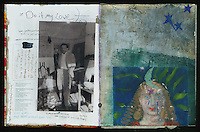 Art Journal by Elena Ray. Handmade artist's journals filled with collage and crazy wisdom.