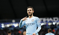 Football - 2018 / 2019 Premier League - Manchester City vs. AFC Bournemouth<br /> <br /> Bernard Silva of Manchester City celebrates  at The Etihad.<br /> <br /> COLORSPORT/LYNNE CAMERON