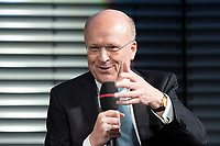 09 NOV 2018, BERLIN/GERMANY:<br /> Prof. Dr. Koen Lenaerts, Praesident des Europaeischen Gerichtshofs, waehrend einer Diskussion nachder von ihm gehaltenen Europa-Rede, einer jaehrlich wiederkehrende Stellungnahme der hoechsten Repraesentanten der Europaeischen Union zur Idee und zur Lage Europas, organisiert von der Konrad-Adenauer-Stiftung, der Stiftung Zukunft Berlin, der Schwarzkopf Stiftung Junges Europa sowie der Stiftung Mercator, Allianz Forum<br /> IMAGE: 20181109-01-109