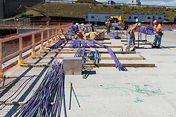 Boathouse at Canal Dock Phase II | State Project #92-570/92-674 Construction Progress Photo Documentation 03 on 16 September 2016. Image No. 14 Pier Reinforment Rebar Fabrication