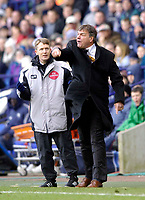 Photo: Jed Wee.<br /> Bolton Wanderers v Fulham. The Barclays Premiership. 26/02/2006.<br /> <br /> Bolton manager Sam Allardyce loses his temper.