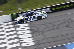 June 1, 2018 - Long Pond, Pennsylvania, United States of America - Kyle Larson (42) brings his car down the frontstretch during qualifying for the Pocono 400 at Pocono Raceway in Long Pond, Pennsylvania. (Credit Image: © Chris Owens Asp Inc/ASP via ZUMA Wire)