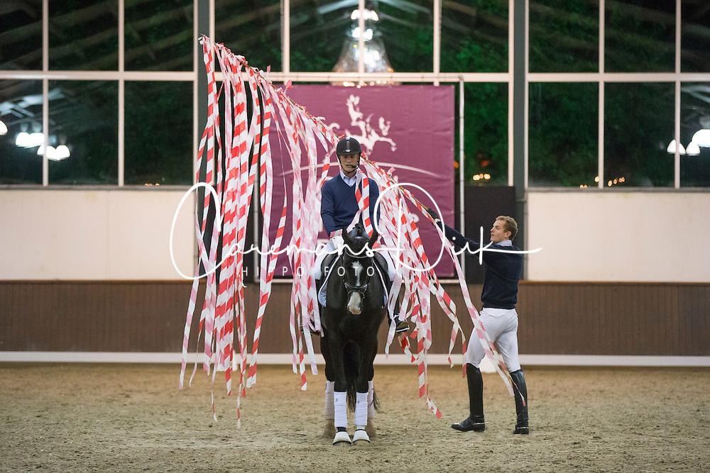 Tucker Tristan (AUS)<br /> Training for the prize giving ceremony<br /> Global Dressage Forum - Academy Bartels <br /> Hooge Mierde 2012<br /> © Dirk Caremans