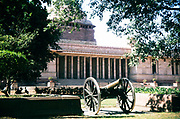 Historic cannon at National Palace, New Delhi, India in 1980