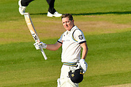 100 for Gary Ballance of Yorkshire - Gary Ballance of Yorkshire celebrates scoring a century during the Specsavers County Champ Div 1 match between Hampshire County Cricket Club and Yorkshire County Cricket Club at the Ageas Bowl, Southampton, United Kingdom on 11 April 2019.
