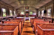 An HDR image of the interior of the Kealii O Ka Malu Church in Haleiwa