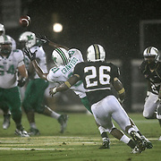 Marshall tight end C.J. Crawford (21) cant make the catch during an NCAA football game between the Marshall Thundering Herd and the Central Florida Knights at Bright House Networks Stadium on Saturday, October 8, 2011 in Orlando, Florida. (Photo/Alex Menendez)