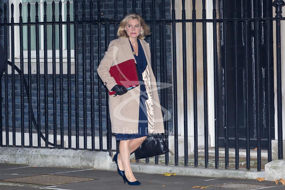 London, November 22 2017. Education Secretary Justine Greening attends the UK cabinet meeting at Downing Street. © Paul Davey