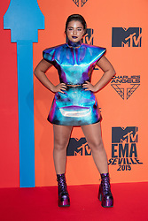 Noa Kirel attends the MTV EMAs 2019 at FIBES Conference and Exhibition Centre on November 03, 2019 in Seville, Spain. Photo by ABACAPRESS.COM