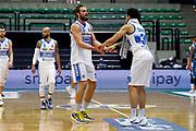 Chillo Matteo, Carrol Jeffrey<br /> De'Longhi Treviso Basket - Acqua S.Bernardo Cantù<br /> Legabasket Serie A UnipolSAI 2020/2021<br /> Treviso (TV), 18/11/20<br /> Foto Michele Brunello / Ciamillo-Castoria <br /> Esultanza