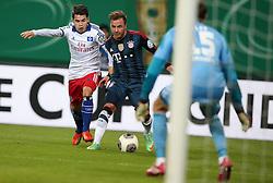 Football: Germany, DFB Cup<br /> Zhi Gin Lam (Hamburger SV, HSV) - <br /> Mario Goetze (FC Bayern Muenchen)