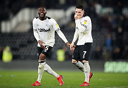 Derby County's Fikayo Tomori and Harry Wilson after the Sky Bet Championship match at Pride Park, Derby.