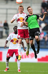 07.05.2013, Red Bull Arena, Salzburg, AUT, OeFB Samsung Cup, Halbfinale, FC Red Bull Salzburg vs FC Pasching, im Bild Christopher Dibon, (FC Red Bull Salzburg, #5) und Philipp Schobesberger, (FC Pasching, #22) // during OeFB Cup half final, between FC Red Bull Salzburg and FC Pasching at the Red Bull Arena, Salzburg, Austria on 2013/05/07. EXPA Pictures © 2013, PhotoCredit: EXPA/ Roland Hackl