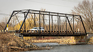 Wisconsin Rustic Road, Dane County, Town of Dunn, Dyreson Road Bridge, 1897 truss bridge of steel, wood and concrete, spanning Yahara River.