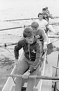 Chiswick. London.<br /> Eights starting from Mortlake<br /> Adam CLIFT, Steven REDGRAVE, Andy HOLMES, John GARRETT, John MAXEY and Terry DILLON. <br /> 1987 Head of the River Race over the reversed Championship Course Mortlake to Putney on the River Thames. Saturday 28.03.1987. <br /> <br /> [Mandatory Credit: Peter SPURRIER;Intersport images] 1987 Head of the River Race, London. UK