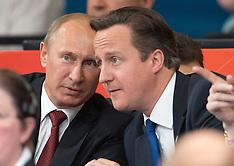 President Putin and Prime Minister Cameron at London 2012 Olympics Judo 2-8-12
