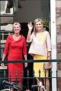 Koningin Máxima bij de viering van het 650-jarig bestaan van het Bartholomeus Gasthuis in Utrecht.In 1367 werd het Bartholomeus Gasthuis gesticht als één van de eerste stedelijke opvangvoorzieningen voor pelgrims en dakloze armen. <br /> <br /> Queen Máxima at the celebration of the 650th anniversary of Bartholomew's Gasthuis in Utrecht. In 1367, Bartholomeus Gasthuis was founded as one of the first urban shelter for pilgrims and homeless arms.