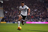 Fulham defender Ryan Fredericks (02) dribbling during the EFL Sky Bet Championship match between Fulham and Derby County at Craven Cottage, London, England on 17 December 2016. Photo by Matthew Redman.