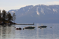 Zephyr Cove, Nevada, USA, on South Lake Tahoe. The lake itself is split vertically between Nevada in the East and California in the West. The snow-capped mountains across the lake are in California. 201304261925<br /> <br /> Copyright Image from Victor Patterson, 54 Dorchester Park, Belfast, UK, BT9 6RJ<br /> <br /> Tel: +44 28 9066 1296<br /> Mob: +44 7802 353836<br /> Voicemail +44 20 8816 7153<br /> Skype: victorpattersonbelfast<br /> Email: victorpatterson@me.com<br /> Email: victorpatterson@ireland.com (back-up)<br /> <br /> IMPORTANT: If you wish to use this image or any other of my images please go to www.victorpatterson.com and click on the Terms & Conditions. Then contact me by email or phone with the reference number(s) of the image(s) concerned.
