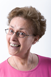 Portrait of an older woman smiling,