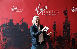 Sir Richard Branson during the Virgin Hotels groundbreaking event at India Buildings, Edinburgh.