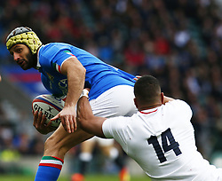 March 9, 2019 - London, England, United Kingdom - London, ENGLAND, 9th March .Angelo Esposito of Italy .during the Guinness 6 Nations Rugby match between England and Italy at Twickenham  stadium in Twickenham  England on 9th March 2019. (Credit Image: © Action Foto Sport/NurPhoto via ZUMA Press)