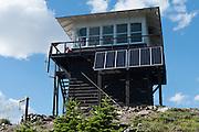 Solar cells power Numa Ridge Lookout, Glacier National Park, Montana, USA