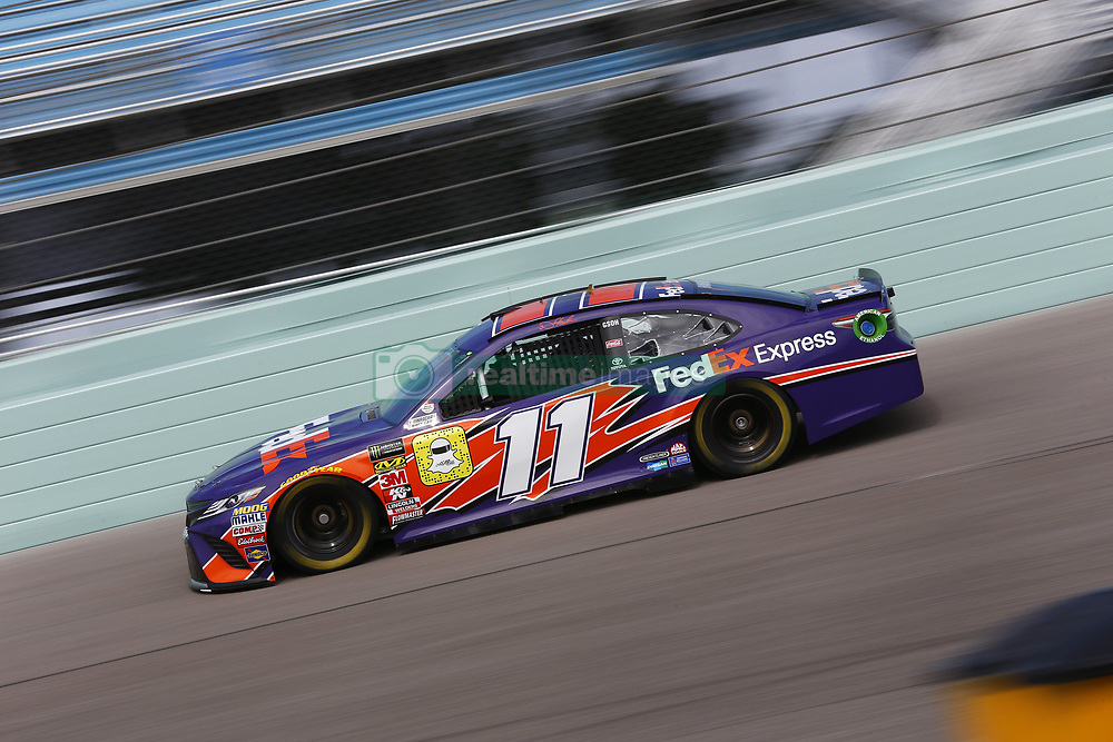 November 17, 2018 - Homestead, Florida, U.S. - Denny Hamlin (11) takes to the track to practice for the Ford 400 at Homestead-Miami Speedway in Homestead, Florida. (Credit Image: © Justin R. Noe Asp Inc/ASP)