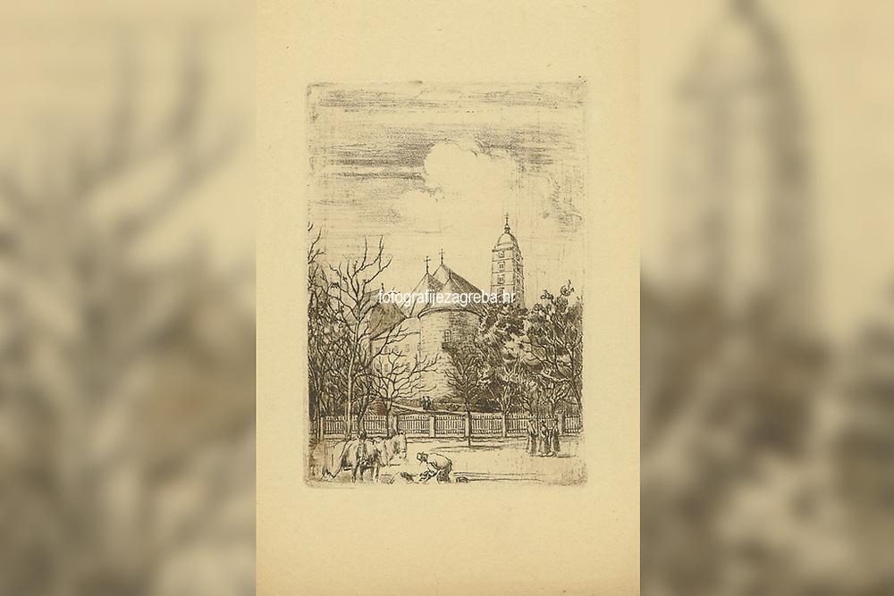 [Kaptol god. 1875] / [Milenko Gjurić]. <br /> <br /> Impresum[Zagreb], [1942].<br /> Materijalni opis1 grafika : bakropis ; otisak 211 x 147 mm, list 313 x 214 mm.<br /> AutorGjurić, Milenko D.(1894.–1945.)<br /> Vrstavizualna građa • grafike<br /> ZbirkaZbirka grafika 20. stoljeća • Grafička zbirka NSK<br /> Formatimage/jpeg<br /> SignaturaGZGH 1028 gju 50<br /> Obuhvat(vremenski)20. stoljeće<br /> NapomenaSignature nema • Naslov preuzet iz grafičke mape 'Stari Zagreb'.<br /> PravaJavno dobro<br /> Identifikatori000467679<br /> NBN.HRNBN: urn:nbn:hr:238:912104 <br /> <br /> Izvor: Digitalne zbirke Nacionalne i sveučilišne knjižnice u Zagrebu